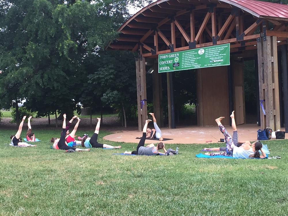 Outdoor Pilates Class