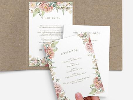Hochzeitskarten und alles was dazu gehört