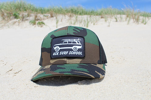 Camo trucker hat with adjustable back