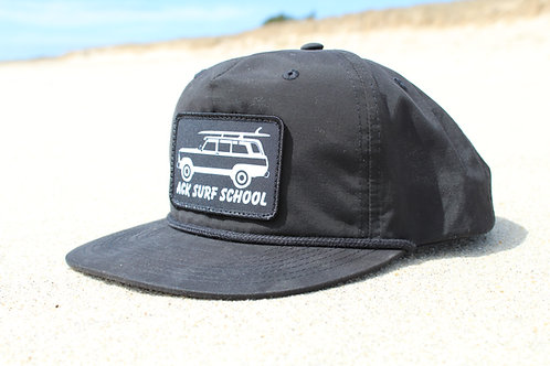 All black rope hat