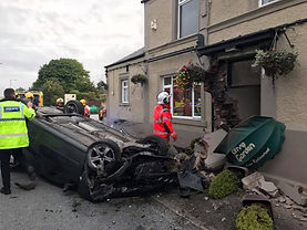 Car crashes into restaurant