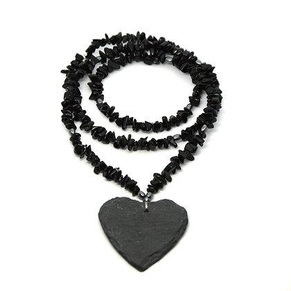 Collana cuore di Ossidiana
