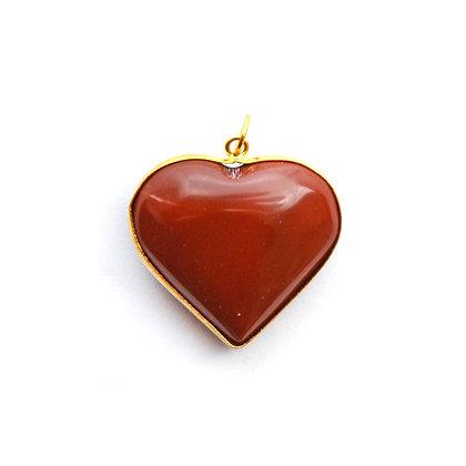 Ciondolo Cuore Diaspro Rosso