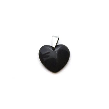 Ciondolo cuore di Ossidiana