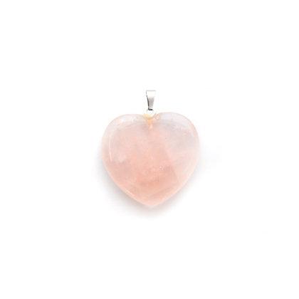 Ciondolo cuore Quarzo rosa