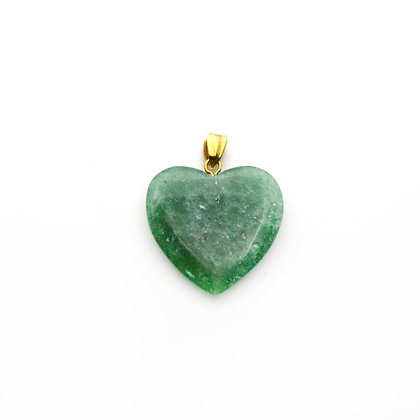 Ciondolo cuore di Avventurina verde