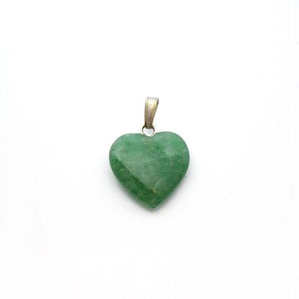 Ciondolo cuore di Avventurina verde -PICCOLO