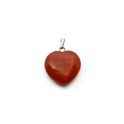 Ciondolo cuore di Diaspro Rosso