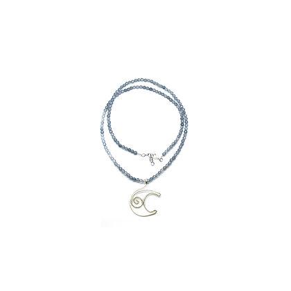 Collana di Agata Grigia - LUNA