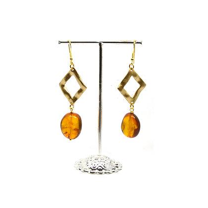 Orecchini di Ambra - color oro