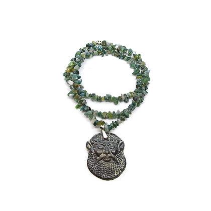 Collana Agata Muschiata - Dio del bosco