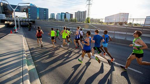 Running through the streets of Calgary