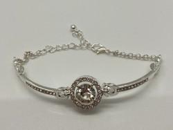 Silver Round Crystal Bracelet