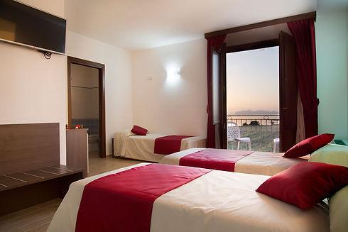 Camera tripla vista mare Resort Santa Maria