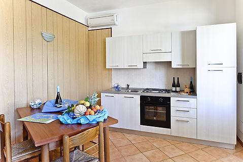Trilocale cucina Resort Santa Maria