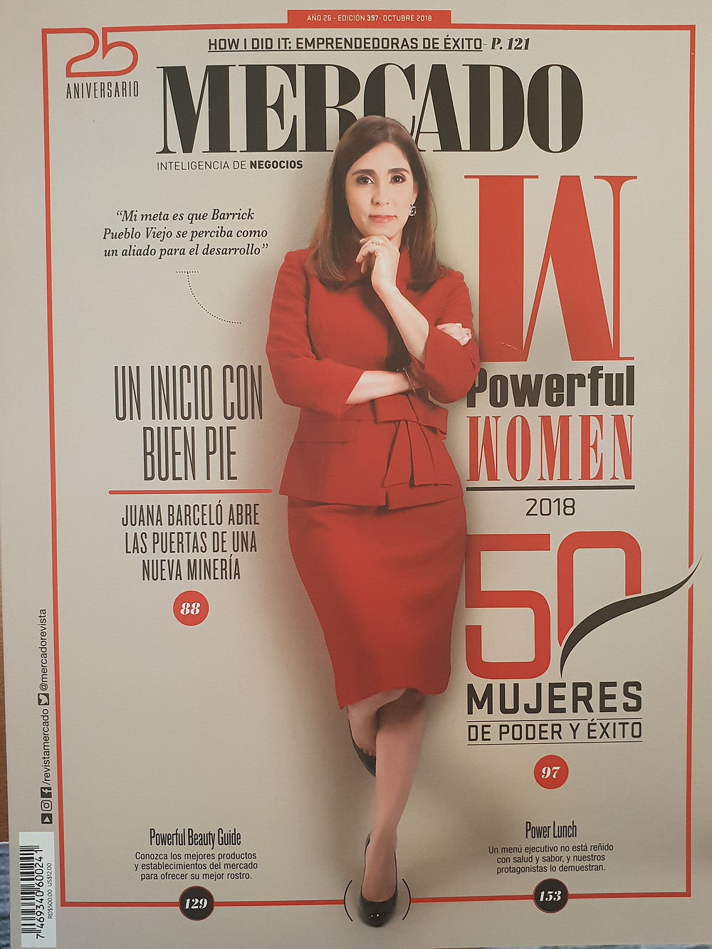 Find our article Most Powerful Women 2018, Revista Mercado,