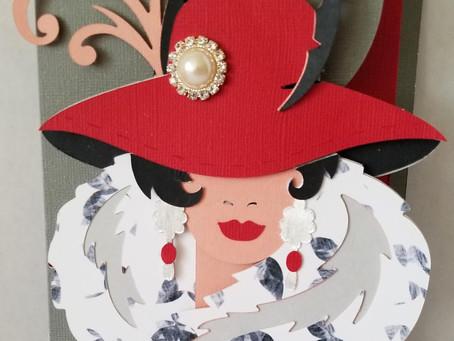 Fancy Lady Birthday Card