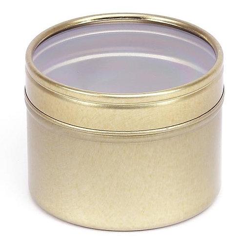 3.5oz Gold Tin with Window