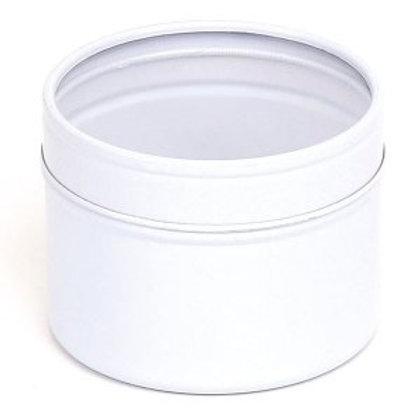 3.5oz White Tin with Window