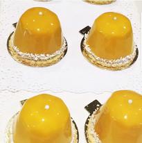 Mango Mirror Glaze Mousse Cake - Maribel Castañeda