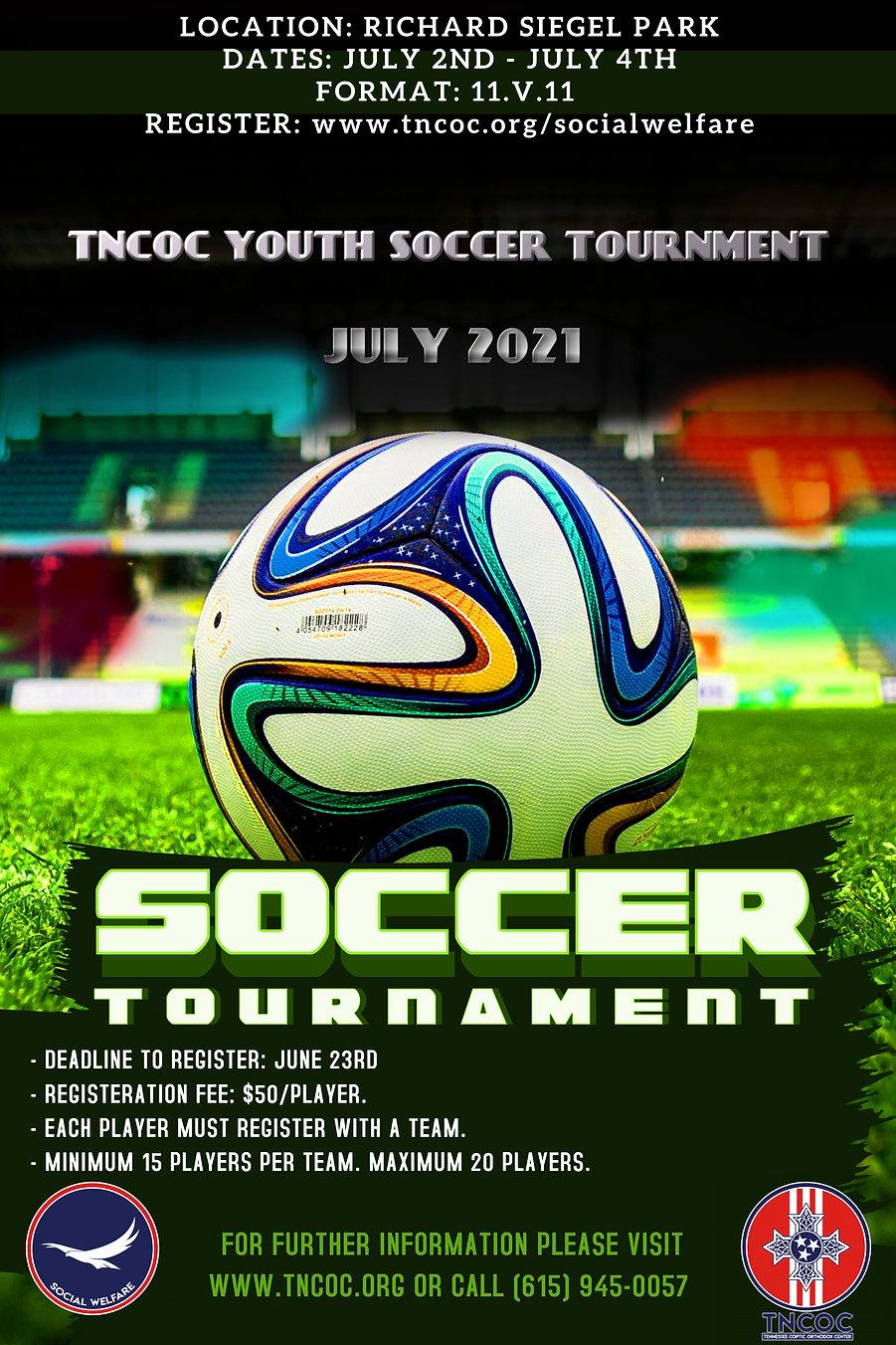 Copy of Soccer Tournament Poster Templat