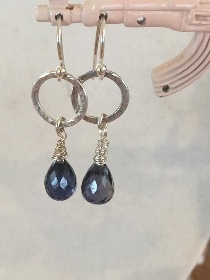 Iolite Drop Earrings