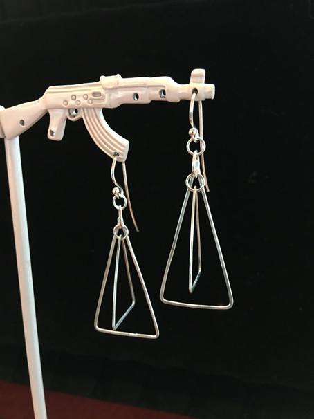 Kinetic Triangle Earrings