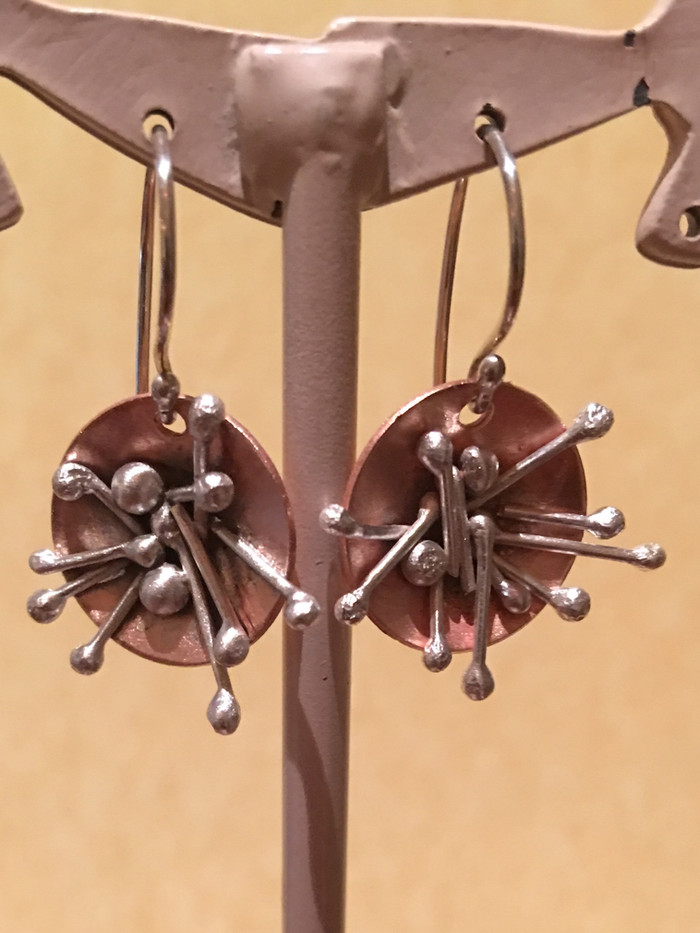 Mixed Metal Sparkler Earrings