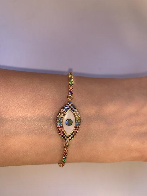 Marquis Evil Eye Bracelet