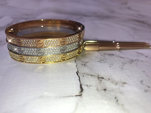 Signature Bedazzled Screw Bangle