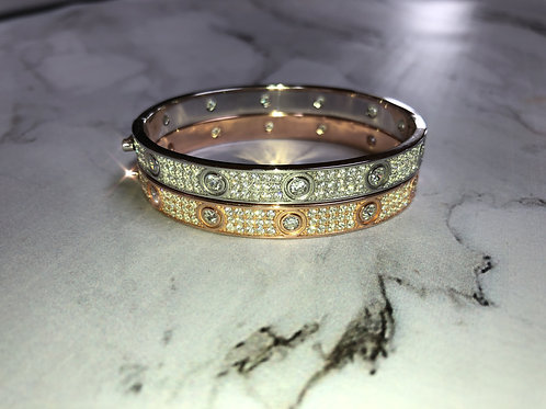 Screwless Bedazzled Luxe Bangle