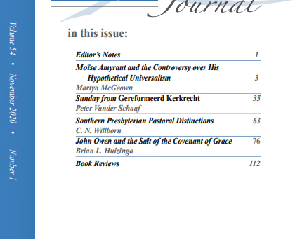 Introducing the Fall 2020 PRT Journal