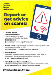 BE SCAM AWARE