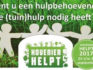 Oproep voor Hovenier Helpt!