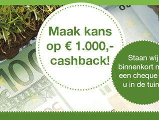 Cashback actie!