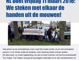 11 maart is 'NL Doet!'