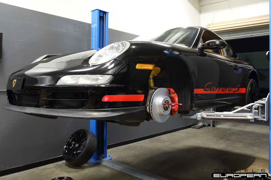 Porsche 997.1 Carrera S Front Brake Service
