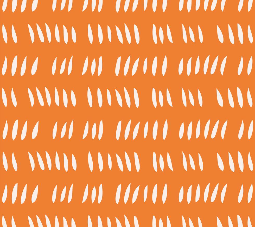 Hash Row Cutouts . White Tangerine