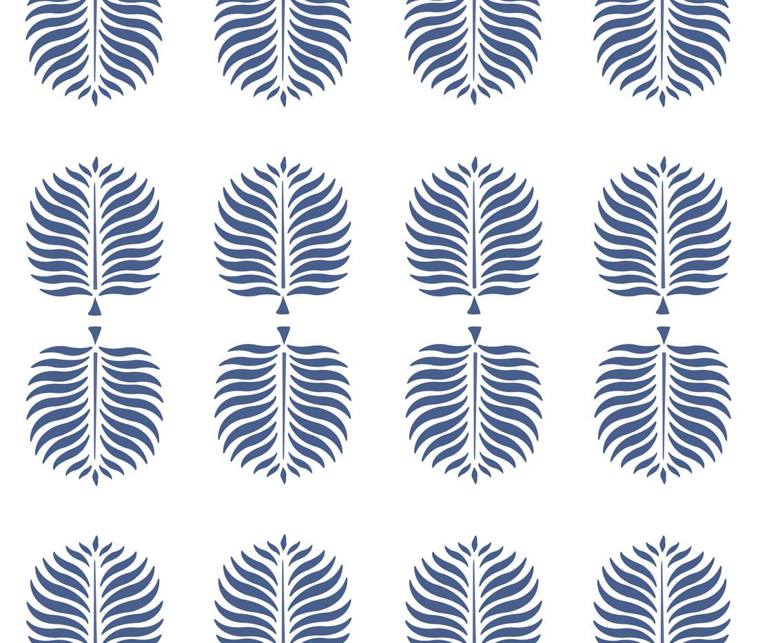 Tropical Linen . White Pleasant Blue Fro
