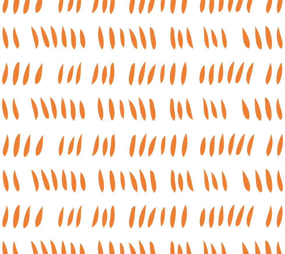 Hash Row Cutouts . Tangerine White