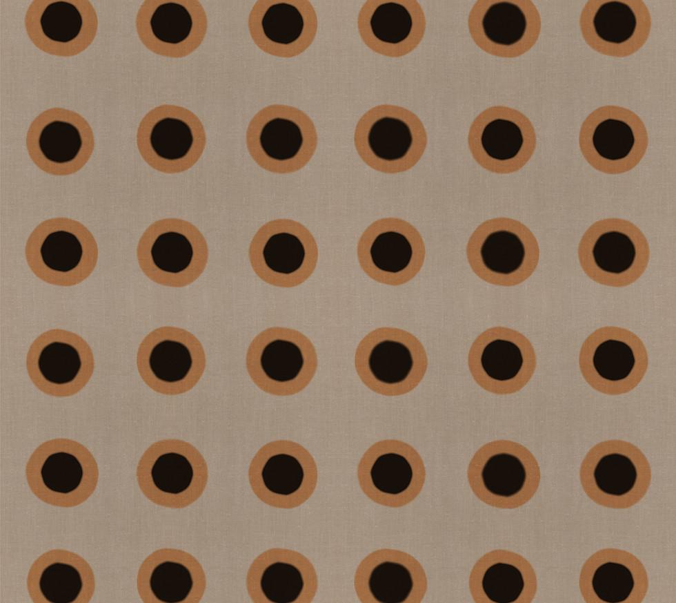 Masai Mara Linen - Copper Onyx Dots . Ne