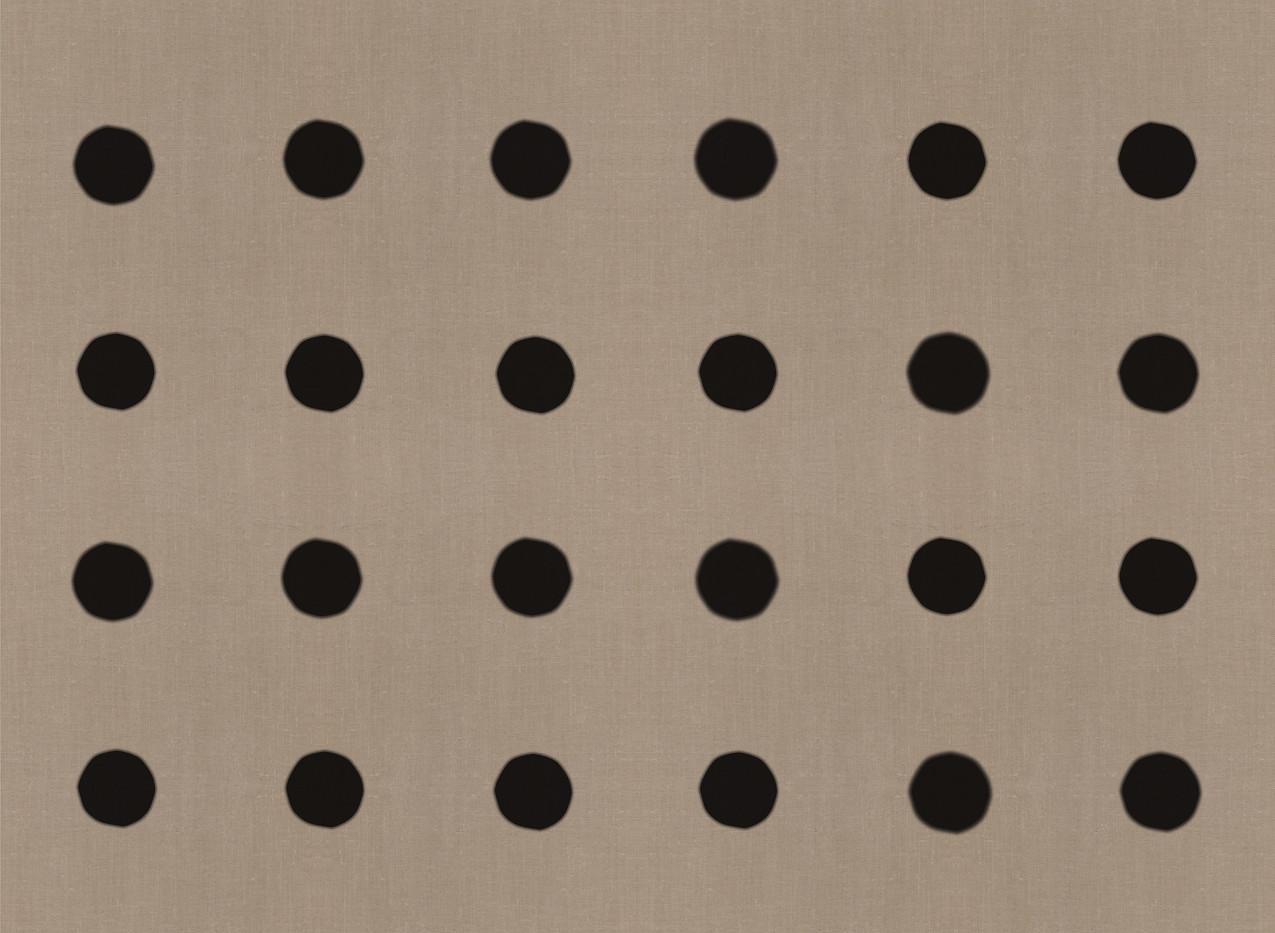 Masai Mara Linen - Onyx Dots . Neutral