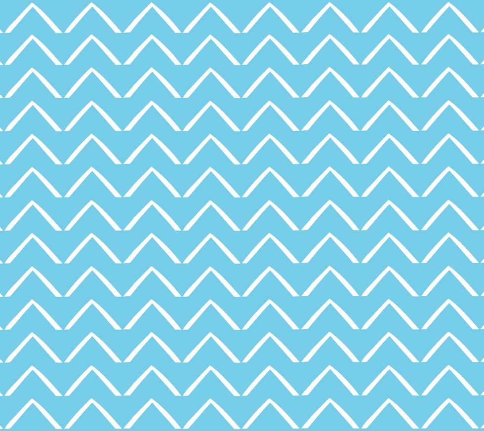 ZigZag Arrows . Perfect Turquoise