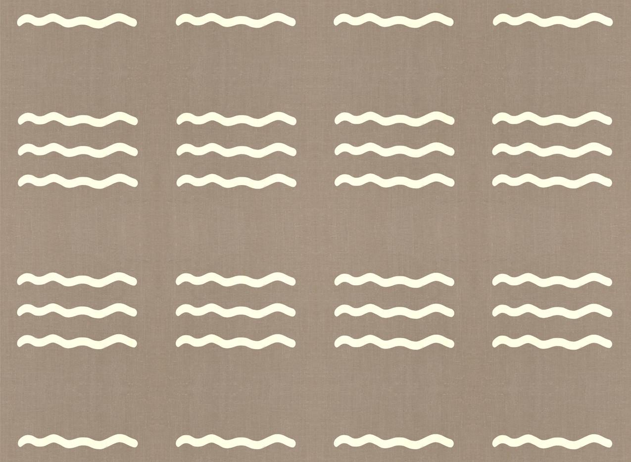 Masai Mara Linen - Ivory Waves . Neutral