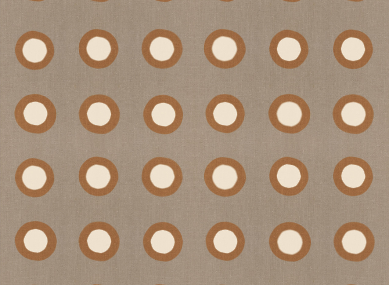 Masai Mara Linen - Copper Ivory Dots . N