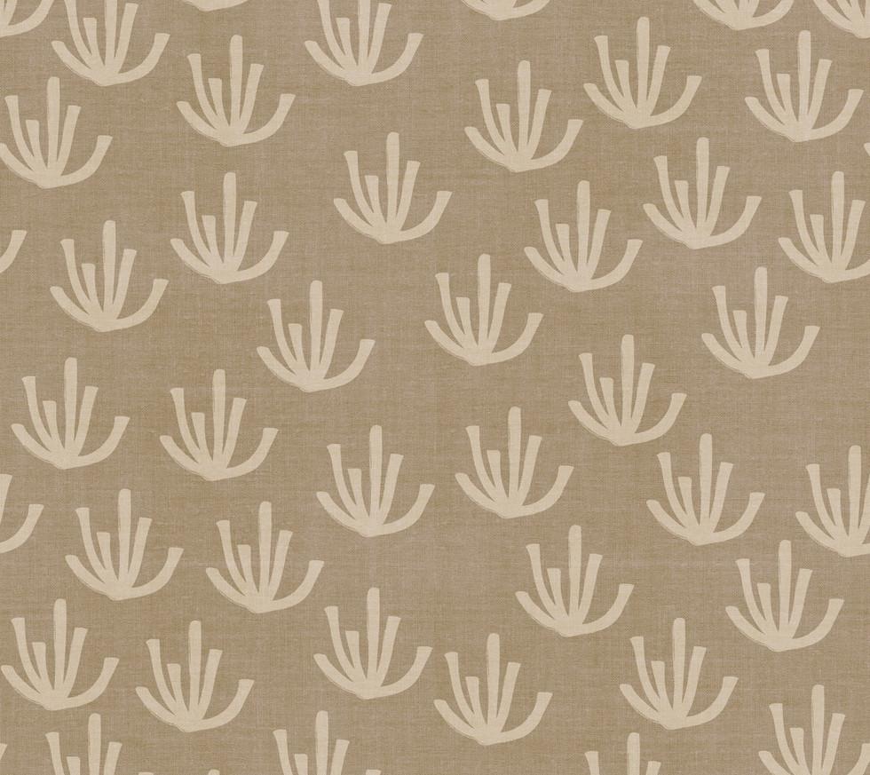 Desert Linen Mudcloth . Cacti Sand