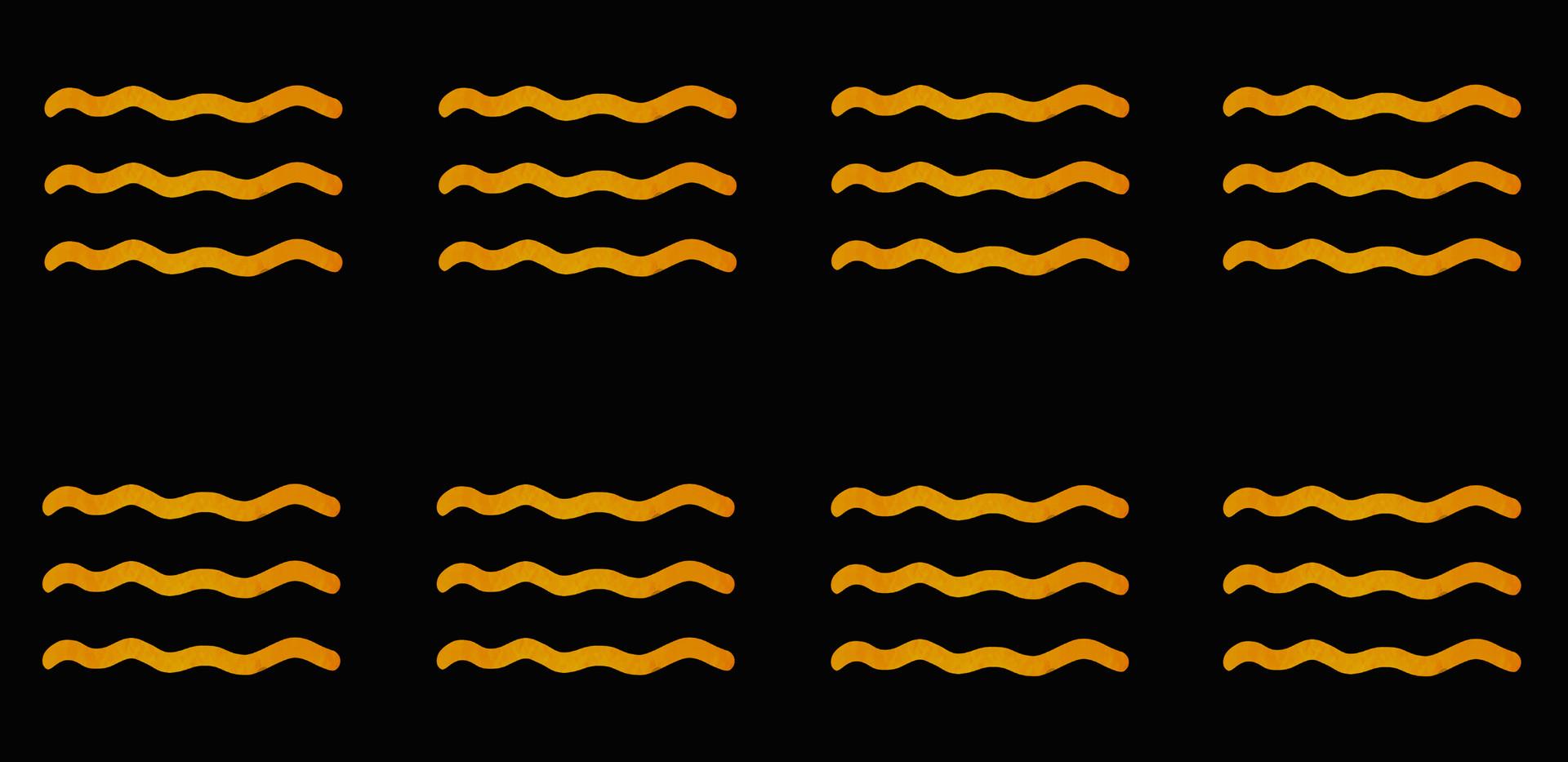 Masai Mara . Golden Watercolor Waves . O