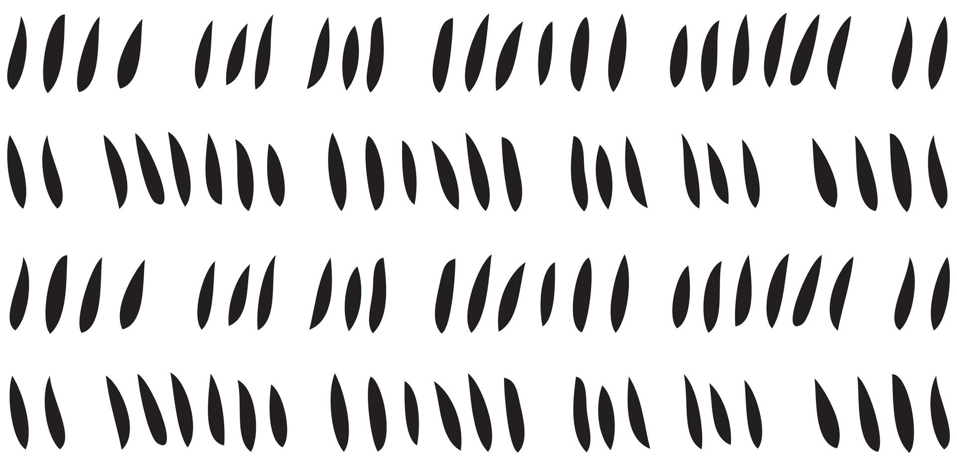 Hash Row Cutouts . Black White