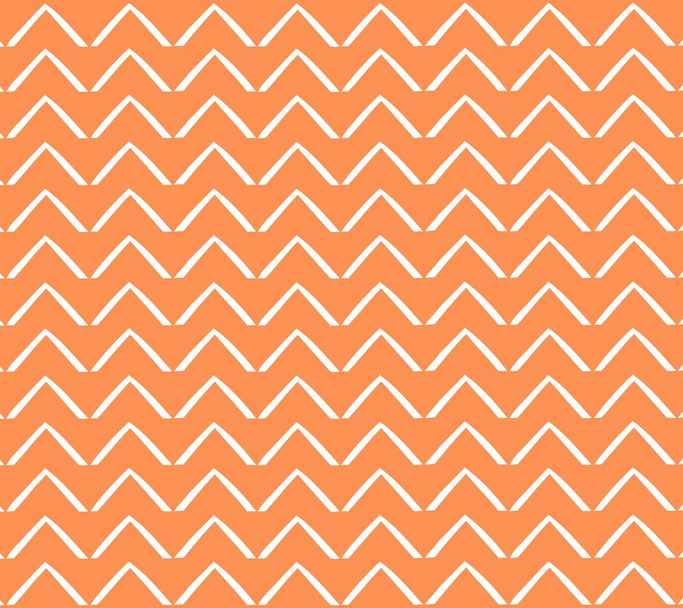 ZigZag Arrows . Tangerine