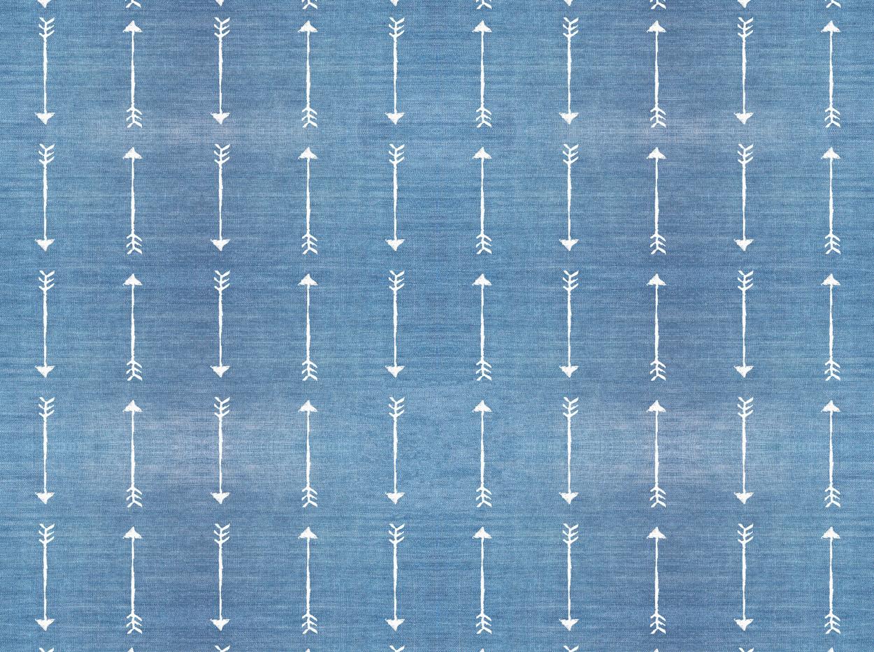 Denim Arrows . 501 Washed Blue